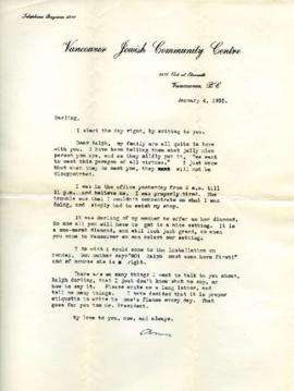 Letter from Ann, January 4, 1933