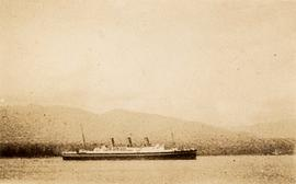 Steamship in Burrard Inlet