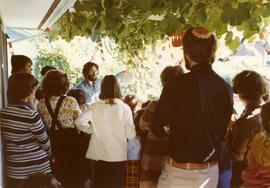 Succot Party Oct. 2, 1977 - Held at Bill and Shirley Gluck's home, Service led by Robbi Dani...