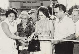 Pioneer Women of Canada ribbon cutting