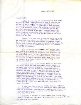 Letter from Ann, January 27, 1933