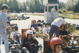 Go-cart race, Beth Hamidrash youth