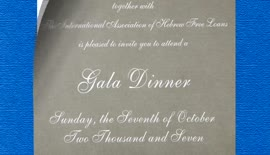 Gala Dinner: The Hebrew Free Loan Association of Vancouver and the International Association of H...
