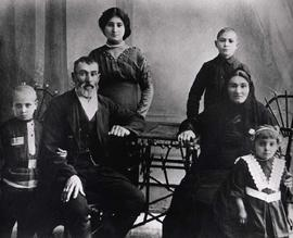 Nemetz family, photograph taken in Russia
