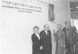 Dedication of Hadassah Reading Room in School of Education at Hebrew University of Jerusalem