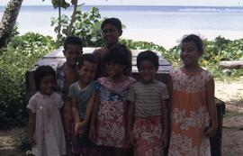 Group of children posing for a picture