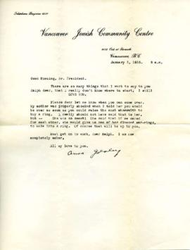 Letter from Ann, January 3, 1933