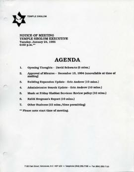 Minutes for Executive Meeting, January 24, 1995
