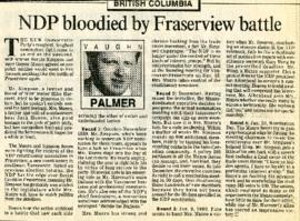 The Vancouver Sun - Monday, January 22, 1990 - NDP bloodied by Fraserview battle