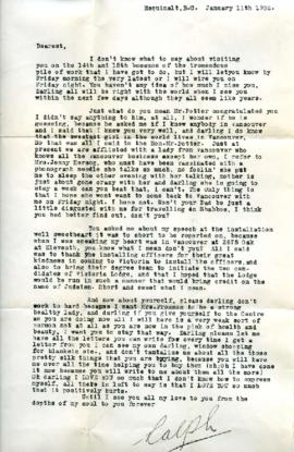 Letter from Ralph, January 11, 1932