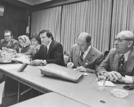 Members of Soviet Jewry Group of 35s meet with members of the press