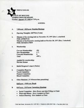Minutes for Board Meeting, January 27, 1998