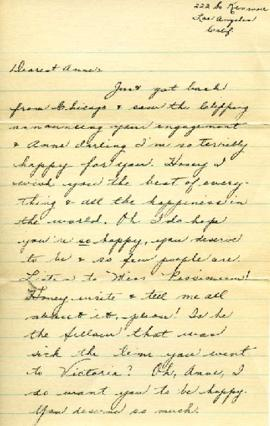 Letter from Lillian, [February 1933]