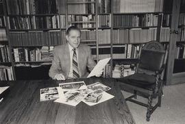 Cyril Leonoff in his library