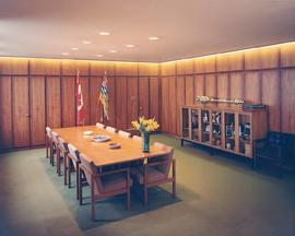 Interior of the Mayor's Office, City Hall, Vancouver, BC