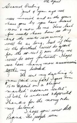 Letter from Ralph, April 5, 1942
