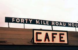 Cafe in Forty Mile, Yukon