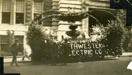 Sam Nemetz and his Northewestern Electric Company parade float
