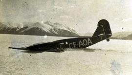 [Plane Bellanca that crashed in Lake Atlin]