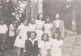 Unidentified adolescent girls at Camp Hatikvah