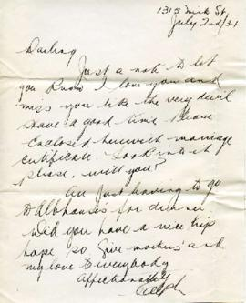 Letter from Ralph, July 2, 1934