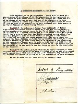 Agreement - December 4, 1943