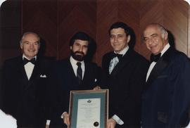 Julius Balshine, Rabbi Philip Bregman, [Jean] Vered, and David [Ofer].