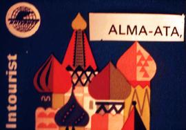 Intourist travel brochure for Alma-Ata, the former capital of the soviet and post-soviet Kazakhstan