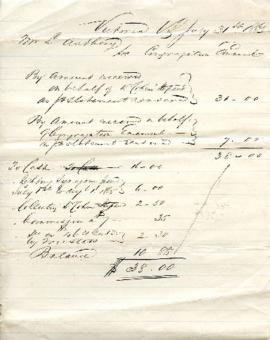 Amounts received - L. Anthony - July 31, 1865