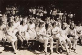 A group of girls at camp
