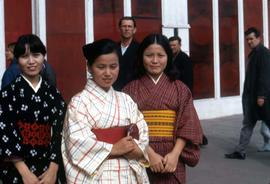 Traditionally dressed Japanese women