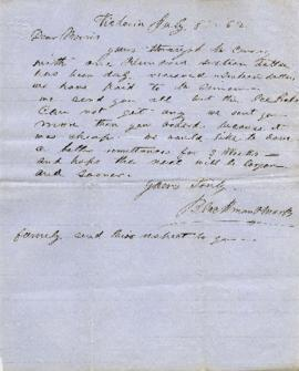 [Letter from Abraham Blackman to Morris Blackman]