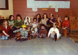 Purim Fair 1975 - Fish Pond and A Happy Group