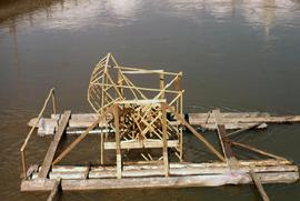 Unidentified wooden structure on a river