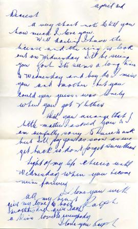 Letter from Ralph, April 3, 1933