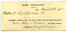 Promissory Note - March 20, 1918