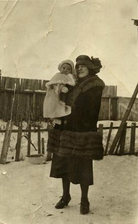 Ann Nemetz and Phyliss, Zelma, Sask., 1921-22