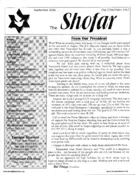 The Shofar - September 2006