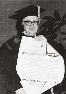 Nathan Nemetz with Honorary Degree awarded by University of Tel Aviv