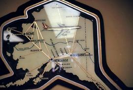 Route map of an airline operating in Alaska and parts of B.C.