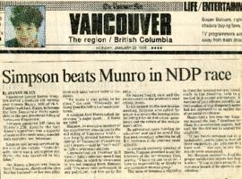 The Vancouver Sun - Monday, January 22, 1990 - Simpson beats Munro in NDP race