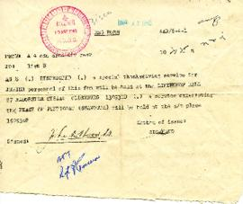 Telegram Thanksgiving Service 10 May 1945