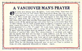 A Vancouver man's prayer [postcard]