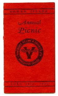 Annual Picnic Sports Programme - July 15, 1931
