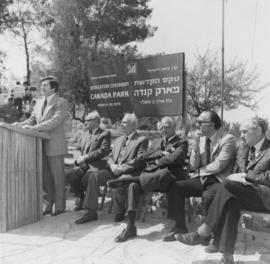 Dedication ceremony at Canada Park, Israel