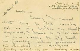 Postcard from Miss Phyliss Nemetz to Dr. Irving Snider