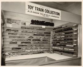 Display of private toy train collection, R & R Frisson, 3053 W. 8th Ave, Vancouver