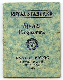 Annual Picnic Sports Programme