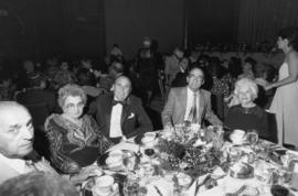 Irwin Waldman, Esther and Ben Dayson, Harry and Rebecca Woolman at M.J. Wosk Dinner, Vancouver Ch...