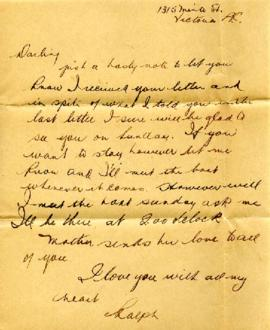 Letter from Ralph, [1933-1942]